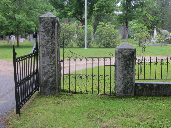 iron gate at cemetery